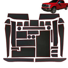 For Ford F-150 2017-2020 Cup Holder, Door, Center Console Liner Accessories 30PC
