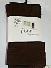 Chocolate Brown Fleece Lined Thick Tights by Flirt
