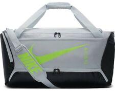 Brand New Nike Brasilia gym Bag Silver And Neon Yellow (BA177-028)