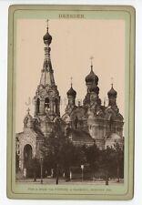 Dresden, Germany - Original 19th Century Cabinet Card Photo - St. Simeon Church