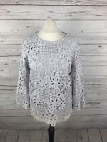 PHASE EIGHT Top - Size UK10 - Grey - Great Condition - Women's