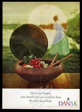 1960 Dansk Designs Jens H Quistgaard teak salad bowl photo vintage print ad