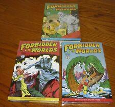 3 Forbidden Worlds Archives Volumes 1, 2, 3, SEALED, Dark Horse HC, ACG Comics