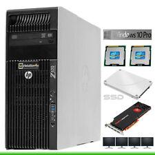 HP Z620 Workstation 2x Xeon E5-2630 RAM 64GB SSD 275gb 3D FirePro V7900 2GB W10