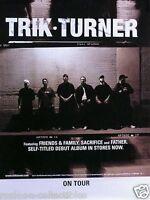 Trik Turner 2002 Self Titled Release Original Tour Promo Poster