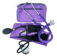 NEW DESIGNER BLOOD PRESSURE KIT: BP UNIT, SPRAGUE STETHOSCOPE & CARRYING CASE