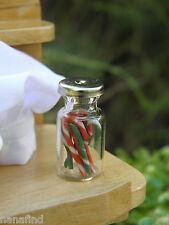 Miniature Dollhouse FAIRY GARDEN Accessories ~ CHRISTMAS Candy Cane Jar ~ NEW