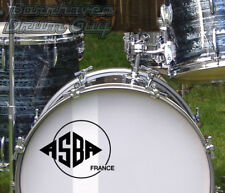 ASBA, (France) Vintage, Repro Logo - Adhesive Vinyl Decal, for Bass Drum Head