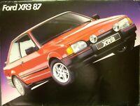 1987 Ford XR3 87 Sales Brochure Brasil Brazil Spanish Text