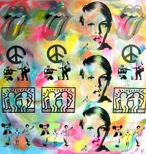 TABLEAU original PEINTURE pop street art banksy haring PyB paris london new york