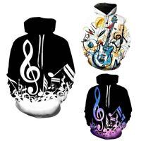 New Music Notes 3D Printed Men Women Hoodie Music Long Sleeve Streetwear Hoodies