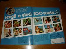 PIAGGIO VESPA GILERA BOXER CIAO CONCORSO 100 RUOTE 1973 CALENDARIO=PUBBLICITA