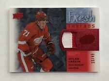 15-16 UD Ice Dylan Larkin Fresh Threads Red Rookie Patch 23/49 Red Wings RARE