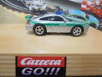 Carrera Go!!! Autos Porsche GT3 Polizei Grün mit blauem Blinklicht # 61112 C36
