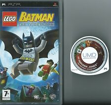 LEGO BATMAN THE VIDEO GAME AND INDIANA JONES=PSP GAME-UMD-UK=BAT MAN=INDIE