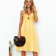 77759fe31662 Women Holiday Sleeveless Floral Ladies Summer Beachwear SKINNY Mini Halter  Dress 5pcs Shopkins Season 7 One