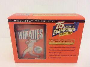 Wheaties Mark McGwire 75th Collectibles 24K Gold Signature Mini Box 1999