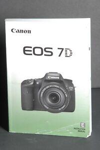 Canon Genuine EOS 7D Camera Instruction Book / Manual / User Guide