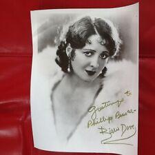 Billie Dove Signed Photo Silent Film Actress Fairbanks Howard Hughes Ziegfeld