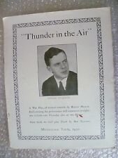 1930 Theatre Programme THUNDER IN THE AIR-Edward Wilkinson,R Burne,Robins Millar