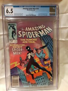 SPIDERMAN #252 CGC 6.5 First Black Costume Newsstand Version