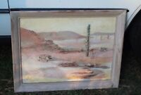 52' R.Casey Southwest Western Original Post-Impressionist Signed Oil Painting