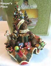 Grandeur Noel Teddy Bear Stocking Holder Christmas Tree Hand Painted