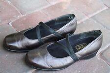 MUNRO Women's Mary Jane Flats Shoes Metallic Bronze Brown Leather Size 8 WW