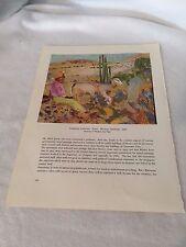 Christian Caillard Mexican Landscape Modern Art Print 20896 Vintage
