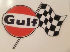 #406 Gulf Racing Flag 9x7 cm! AUFKLEBER AUTOCOLLANT STICKER GASOLINE USA
