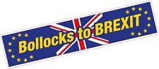 Bollocks to BREXIT EU MPs Funny Europe Brexit Car Bumper Laptop Sticker Van