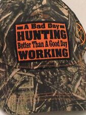 Camouflage Hat Hunting Better Then Working Cap Adjustable Velcro