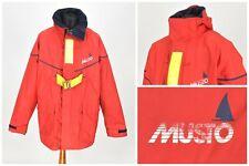 Mens MUSTO Yachting Vintage Jacket Red Sailing Nylon & PVC Size XL