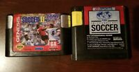 Tested FIFA International Soccer & World Championship Soccer 2 Sega Genesis