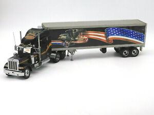 Franklin Mint Peterbilt 379 Semi Truck Tractor Trailer 1/32 Diecast Model