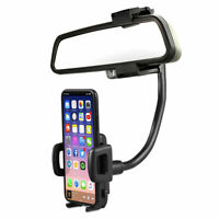 Universal 360° Car Rear View Mirror Mount Stand Holder Cradle For Cell Phone GPS