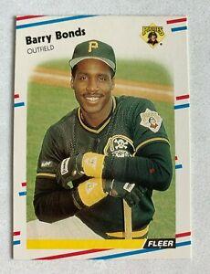 MLB BARRY BONDS Pittsburgh Pirates 1988 Fleer Baseball Trading CARD #322