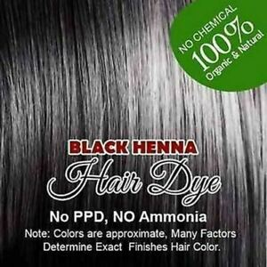 2 Natural Black Henna Color 60g /100% Organic Chemical Free HAIR Color Dye