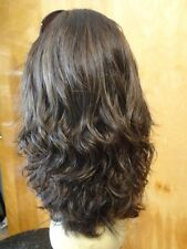 Malky Wig  European Multidirectional Human Hair Sheitel Medium Brown Wavy Small