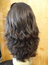 Malky Wig  European Multidirectional Human Hair Sheitel Medium Brown Wavy Small
