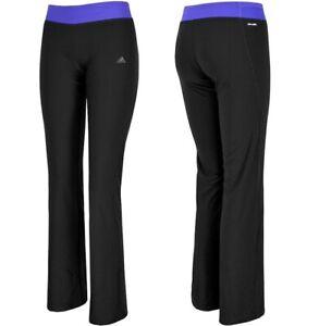 Adidas Girl Tracksuit Bottoms Sports Pants Leggings Jazz Pant Tight Black