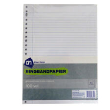 Albert Heijn A4+ Ringbinder Punched Refill Loose Writing Paper - 100 Sheets