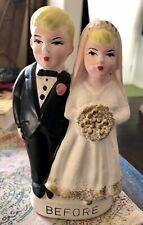 New ListingBride Groom Piggy Bank Or Cake Topper Wedding Before After Vintage