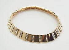 Vintage authentic Swan Swarovski Art Deco design w crystals chocker necklace