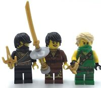 LEGO LOT OF 3 MINIFIGS NINJAGO ELEMENTAL ROBE NINJA THE NINJAGO MOVIE GENUINE
