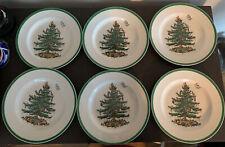 "Spode Christmas Tree Dinner Plates Set of six 10.5"""