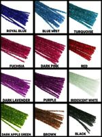 "12"" Metallic TINSEL ( PIPE CLEANER ) 6MM STEMS Choose Color & Package Amount"