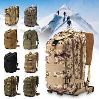 30L Outdoor Military Tactical Backpack Rucksacks Camping Hiking Trekking Bag