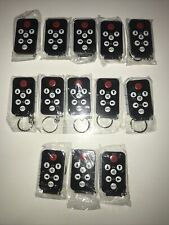 set of 13 (thirteen) New keychain universal remotes (+13 add'l Cr2025 batts)