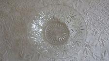 "Round Clear Glass Bowl Dish 7"" Diameter Glassware"